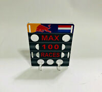 1:18 Pitboard F1 Formula1 Max Verstappen 100 Races 2019 to Spark Minichamps New