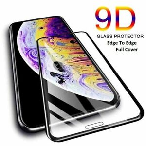 Screen Protector For iPhone 12 11 Pro Max XR XS X 6 7 8 9D Curved Tempered Glass