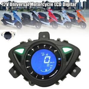 12V Universal Scooter LCD Digital Odometer Speedometer Tachometer Gauge Meter