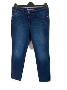 Next Size 12 Figure Blue Straight Leg Jeans -(C100)