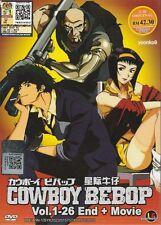 Cowboy Bebop DVD (Vol. 1~26 End + Movie) Anime English Dub Region 0