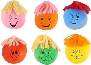 Henbrandt 10 x Mini Moody Squeezy Faces (3-4cm) Party Bag Filler