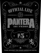 PANTERA-schiena ricamate Back Patch 101% Proof