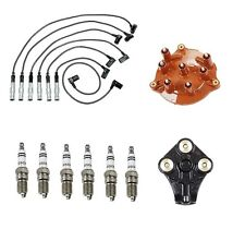 Ignition Distributor Cap Rotor Spark Plug Wire Kit for Mercedes W124 W126 W201