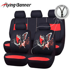 Flying banner fashion print butterfly Car Seat Covers Universal embroidery red