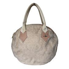 VIVIENNE WESTWOOD CREAM BEIGE ROUND TOP HANDLE BAG