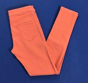 Luciano Soprani pantalone donna corallo M w29 tg 43 skinny aderenti vintage T796