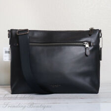 NWT Coach F72511 Graham Soft Leather Messenger Crossbody in Black