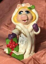 Miss Piggy Pour Moi 1981 Henson Christmas Ornament Euc