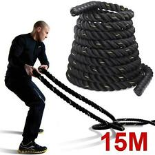 """1.5"""" Fitness 38mm Polyester Strength Training Undulation Battle Rope Exercise"""