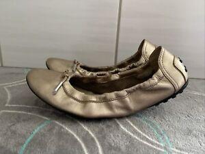 Sehr schöne Noppen Mokassins von Tod's in Gold Ballerina Flats 38 / 37,5