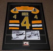 Bobby Orr Signed Framed 31x41 Jersey & Photo Display JSA Bruins