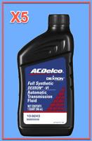 5 Quart GMC OEM Automatic Transmission Fluid AcDelco Full Synthetic Dextron VI