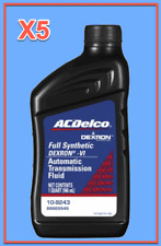 5 Quarts Auto. Transmission Fluid ATF AcDelco GMC OEM Full Synthetic Dexron VI