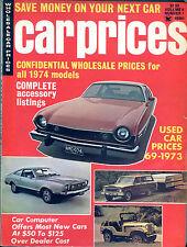 Car Prices Magazine 1974 Wholesale Prices Used Car Prices VGEX 122815jhe2