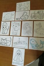Pack of 12 Kids colouring Post cards