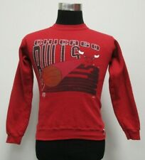 Vtg 90s Logo 7 Chicago Bulls Sweatshirt Boys Youth Medium M Basketball Jordan