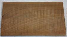 plaquette bloc noyer ondé ebenisterie coutellerie walnut wood knife