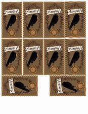 10 Simplify Crow & Pipberry Wreath Primitive Hang Tags Scrapbooking Paper Crafts