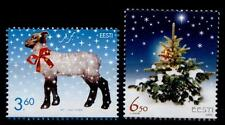 Weihnachten. Lamm, Weihnachtsbaum. 2W. Estland 2002