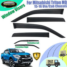 4x Weather Shield Weathershield Window Visors for Mitsubishi Triton MQ 2015-2016