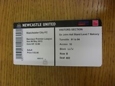 06/05/2012 Ticket: Newcastle United v Manchester City  . Thanks for viewing this