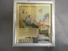 Nescafe alte Reklame im Bilderrahmen (90)