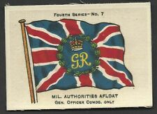 More details for ardath - flags 4th series (silk) - #7 mil authorities afloat, gen officer comdg