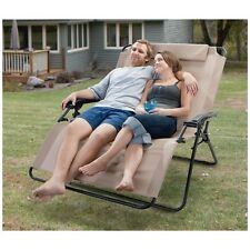 2 Person Zero Gravity Outdoor Camping Folding Lounge Yard Patio Recliner Chair