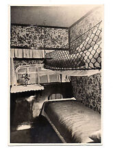 RARE ANTIQUE GRAF ZEPPELIN LZ 127 PASSENGER ROOM PHOTO