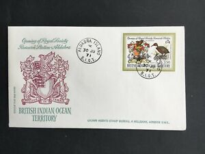 BRITISH INDIAN OCEAN 1971 RESEARCH STATION COVER TO LONDON