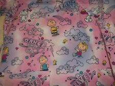 "SCRUB TOP, THE PEANUTS GANG,  SIZE S""  PINK & PURPLE COLORS. LOVE, LAUGH, DANCE"