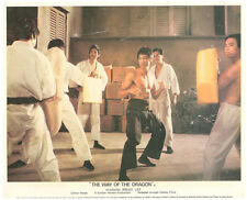 The Way of the Dragon original lobby card Bruce Lee classic kung fu scene