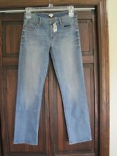 J Crew 27/29 stretch blue jeans NEW straight & narrow