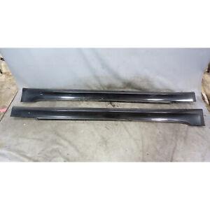 04-10 BMW E60 5-Series ///M Outside Side Skirt Rocker Panel Pair Black Sapphire