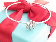 "Tiffany & Co Silver Picasso Daisy Bangle Bracelet 6.75"" Wrist"