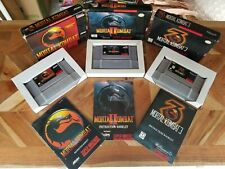 Mortal Kombat 1 2 3 Lot SNES (Super Nintendo)