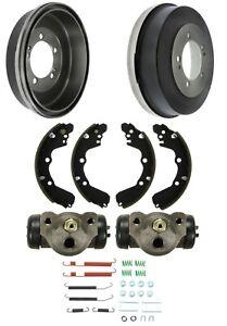 Brake Drums Shoes & Cylinders Kit Rear for Chrysler DODGE Mitsubishi