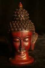 Buddha Head statue Resin 6 inch