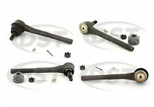 For GMC Chevrloet Kit of 2 Front Inner & 2 Front Outer Steering Tie Rod Ends