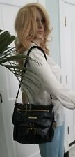 Michael Kors black patent leather crossbody/shoulderbag with gold hardware