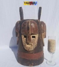 WAS $925 - Tribal African Art Fang Ngontang Janus Mask Figure Sculpture Statue