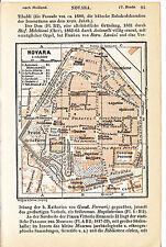 Novara 1911 picc. piantina di città orig. Prato-Fiera Bellini Cavalleria Coccia