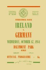 Fußball Football Programm 1951 Ireland v Germany Deutschland DFB Reprint