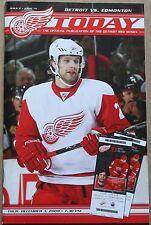 2009-10 Edmonton Oilers at Detroit Red Wings Program Brad Stuart Cover