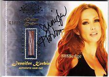 2012 BENCHWARMER DAIZY DUKEZ HAIR CUT AUTO: JENNIFER KORBIN #5/15 AUTOGRAPH DNA