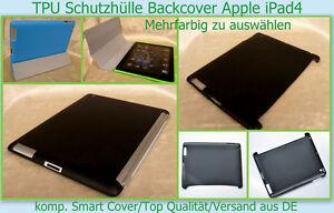 iPad 4 Schutz hülle Silikon Tasche Back Case Komp. Smart Cover Etui iPad 2 / 3 *