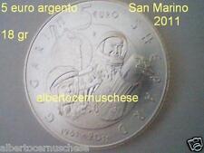 5 euro San Marino 2011 argento FDC Gagarin Shepard Saint Marin Сан - Марино