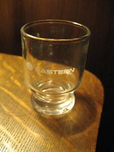 Eastern Airlines EAL EA Vintage First Class Airplane Cordial Logo Shot Glass