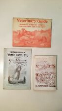 3 Humphreys' Specifics Homeopathic Remedies For All living Things. Early 1900s